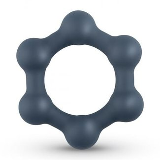 Boners Hexagon Cockring Met Stalen Kogels
