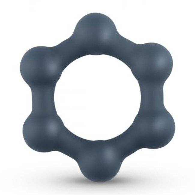 Hexagon Cockring With Steel Balls