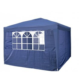 Garden Royal Garden Royal Partytent 3x3m Easy Up blauw met 4 zijwanden
