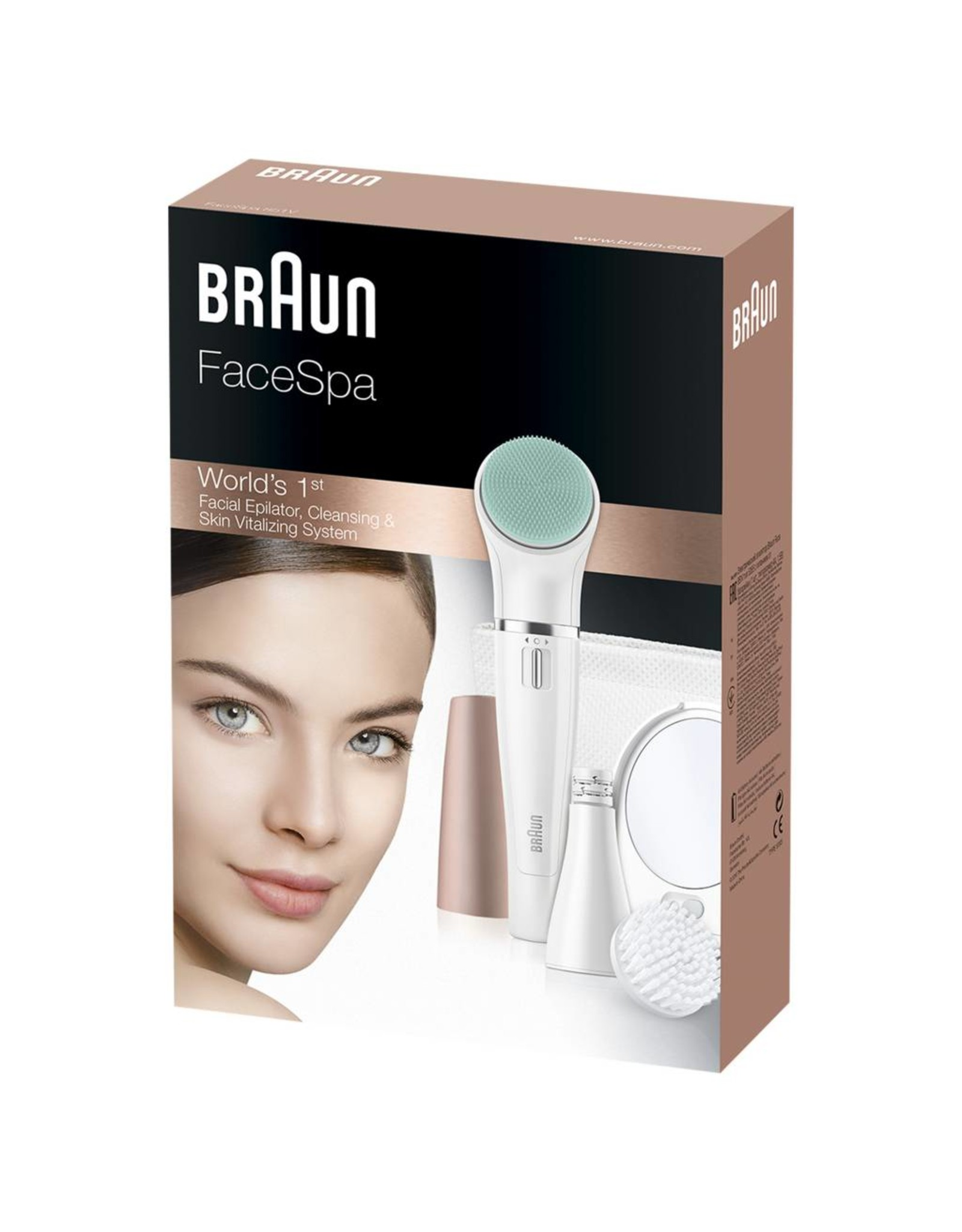 Braun Braun FaceSpa 851V Goud, Wit