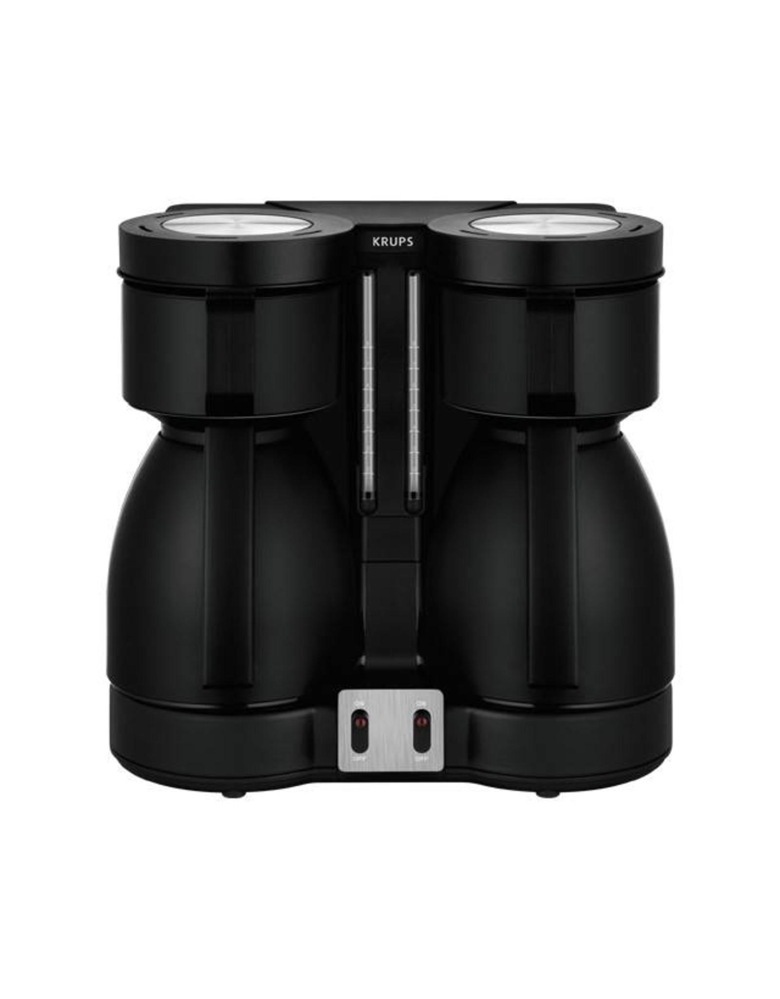 Krups Krups Duothek KT 8501 koffiezetapparaat met 2 kannen zwart