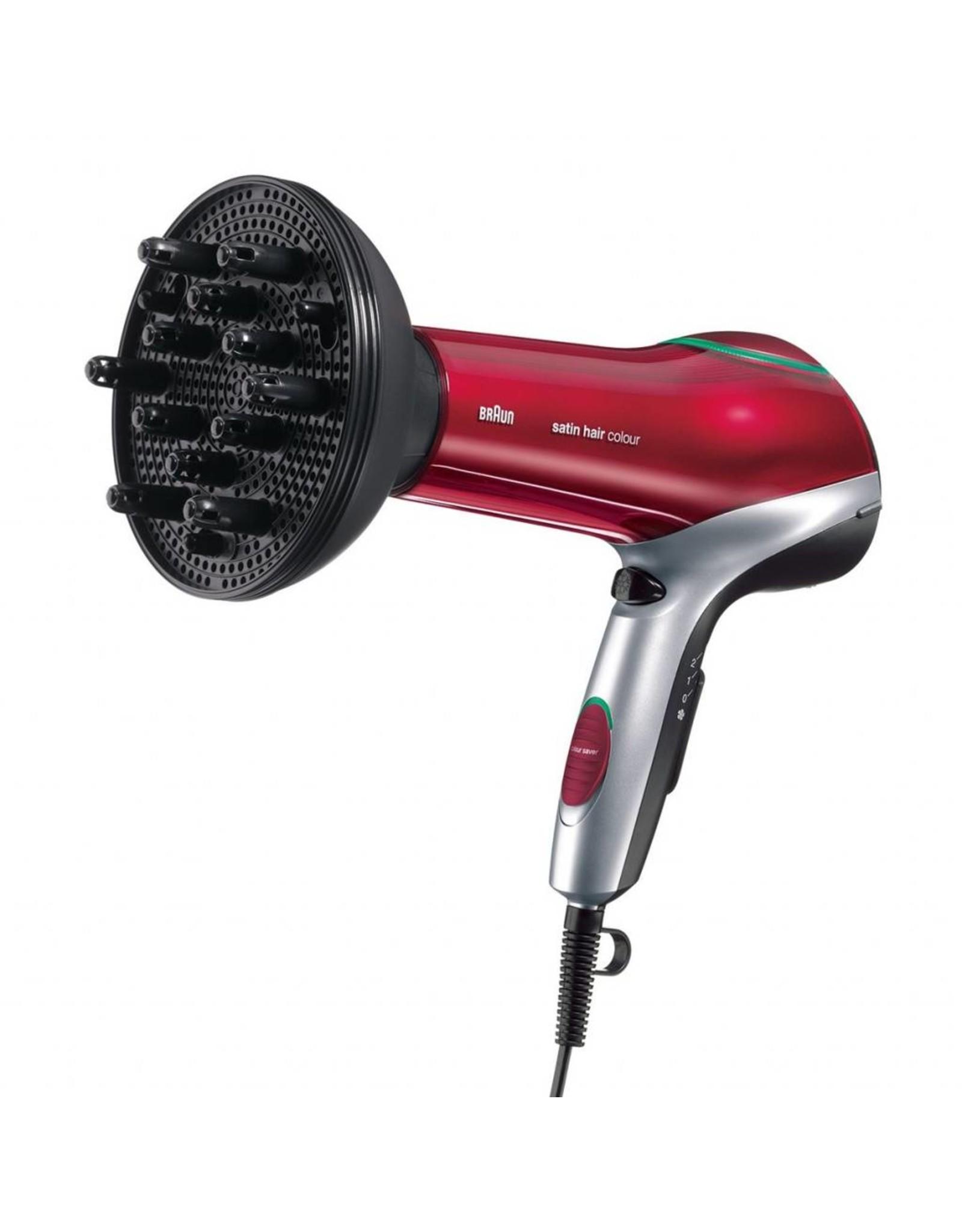 Braun Braun HD 770 2000W Zwart, Rood