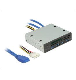 DeLOCK DeLOCK 91493 Intern USB Zwart, Zilver geheugenkaartlezer