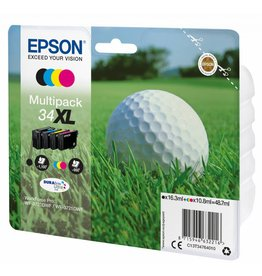 Epson Epson Multipack 34XL DURABrite Ultra  Zwart,Cyaan,Geel