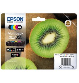 Epson Epson 202XL 8.5ml Zwart, Cyaan, Foto zwart, Geel inktcartridge