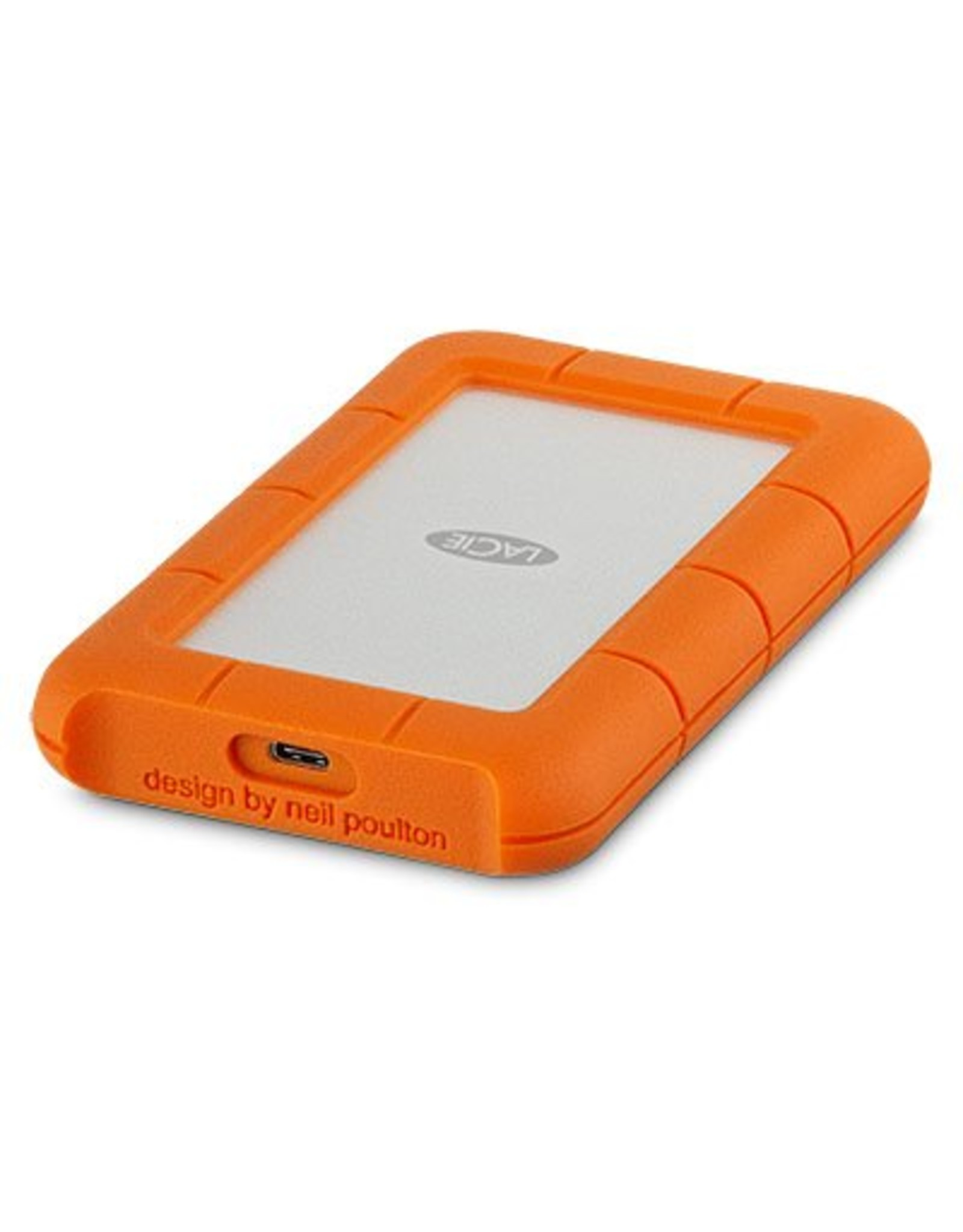 LaCie LaCie Rugged USB-C 4TB 4000GB Oranje, Zilver