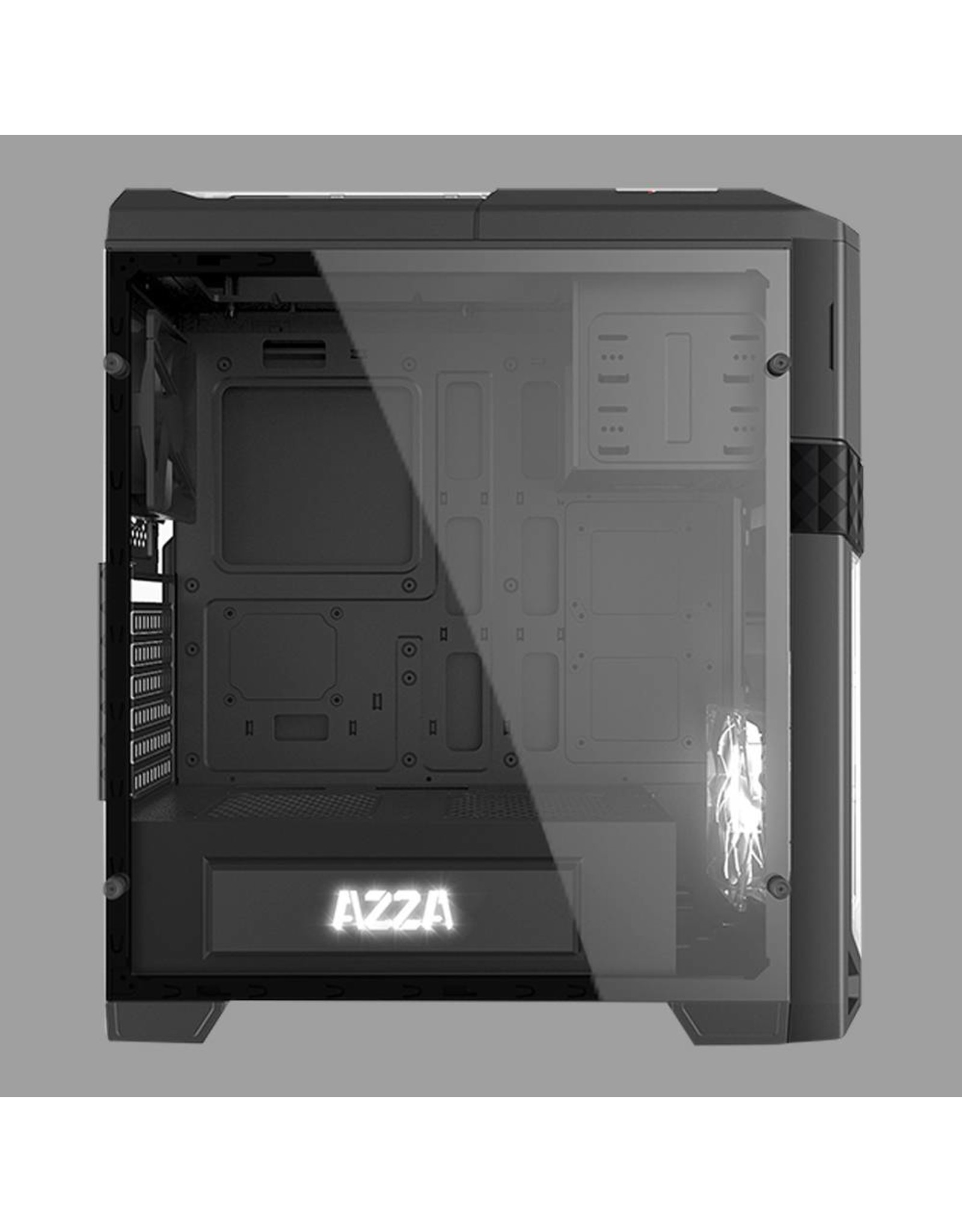Azza Azza CSAZ-240X Midi-Toren Zwart computerbehuizing