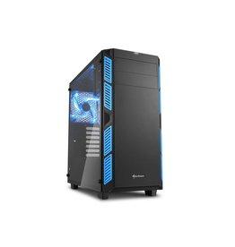 Sharkoon Sharkoon AI7000 Glass Toren Zwart, Blauw computerbehuizing