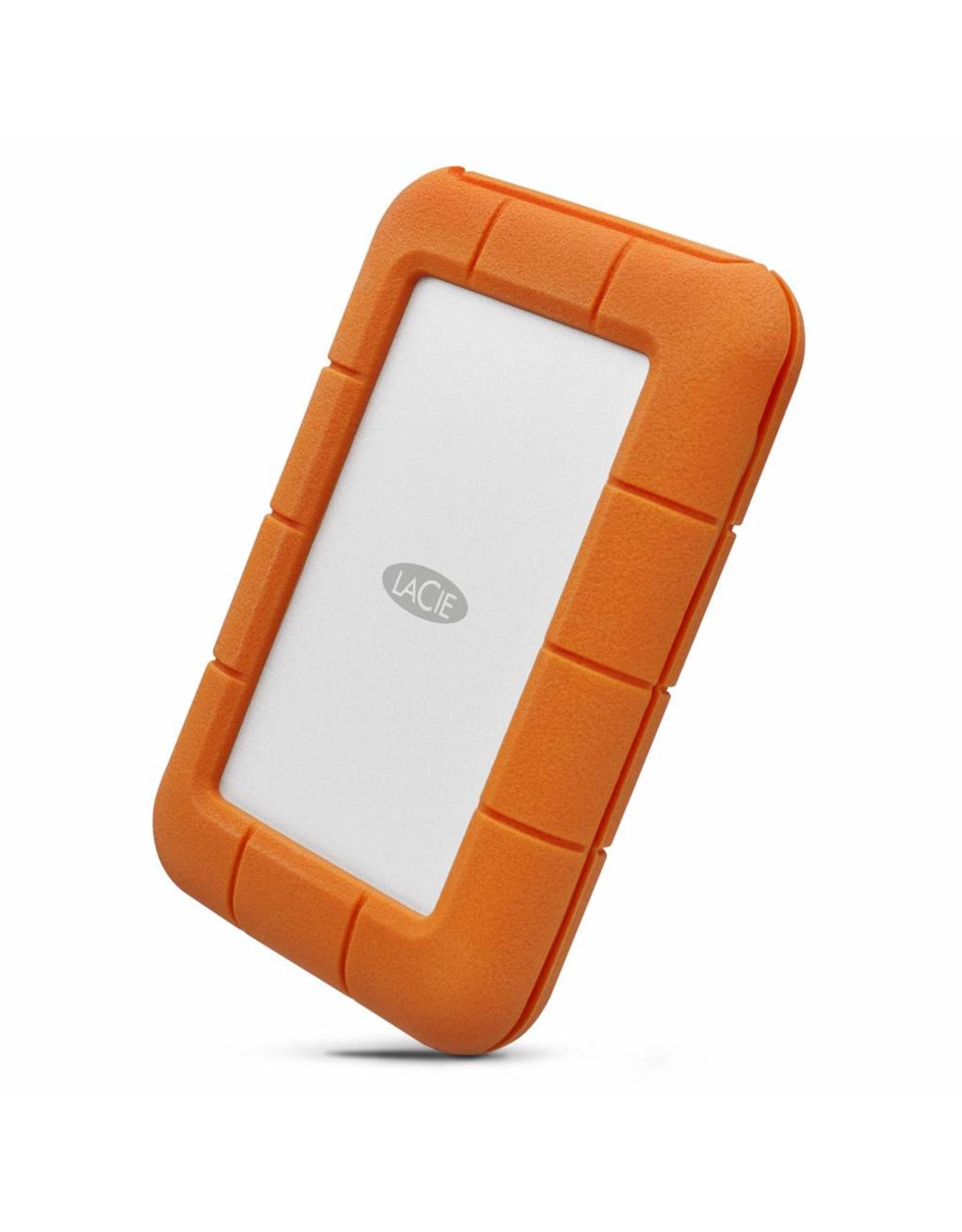 LaCie LaCie Rugged USB-C 5000GB Grijs, Geel externeharde schijf