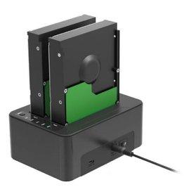 Sharkoon Sharkoon QuickPort Duo USB 3.1 (3.1 Gen 2) Type-C Zwart
