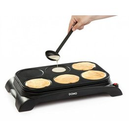 DOMO Domo DO8709P crepe maker 1000W zwart