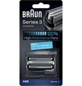 Braun Braun Series 3 32B Cassette Zwart - Vervangend Scheerblad