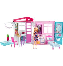 Barbie Barbie Huis met Barbiepop