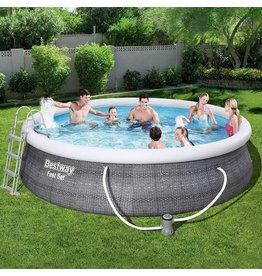 Bestway Bestway zwembad fast set set rond rotan 396 x 84 cm