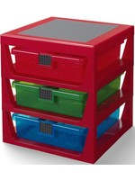 Lego Opbergrek Lego: 3 lades rood (RC032081)