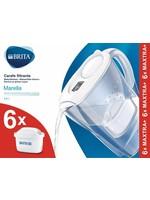 Brita BRITA Waterfilterbundel Marella Cool white 6 MAXTRA filterpatronen