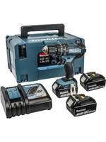 Makita Makita DHP482RF3J 18V (Klop)boor-schroefmachine 3.0Ah   3e accu in M-box 3