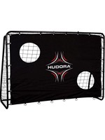 Hudora Unisex_Adult Freekick mit Torwand Football Goal, Black, standard size