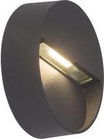 AEG lamp voor LED buitenwandlamp rond antraciet | 1x 3W LED IP54 - spatwaterdicht
