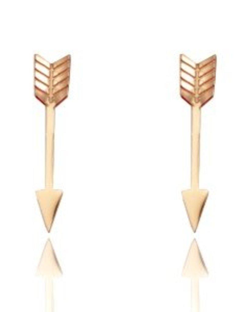 RVS oorbellen arrow