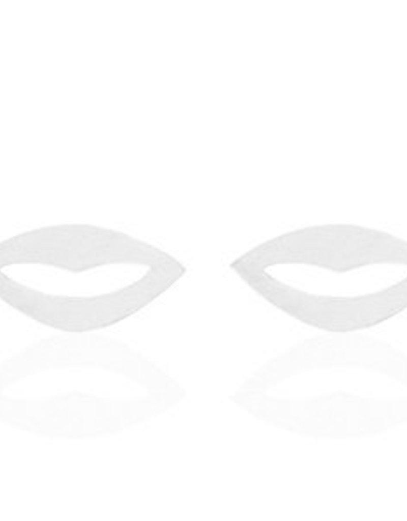 Oorbellen lips zilver
