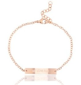 Armband Let love rule rose