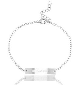 Armband Let love rule zilver