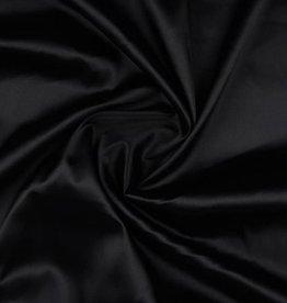 Satijn stretch zwart