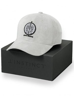 8a4f1b2789ee51 L'Instinct Couture, Hand Embroidered Suede Baseball Cap - Grey - Official  webshop of L'Instinct Couture | 100% Satisfaction Guaranteed