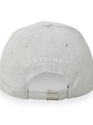 1f52217ae9f941 L'Instinct Couture, Hand Embroidered Suede Baseball Cap - Grey ...