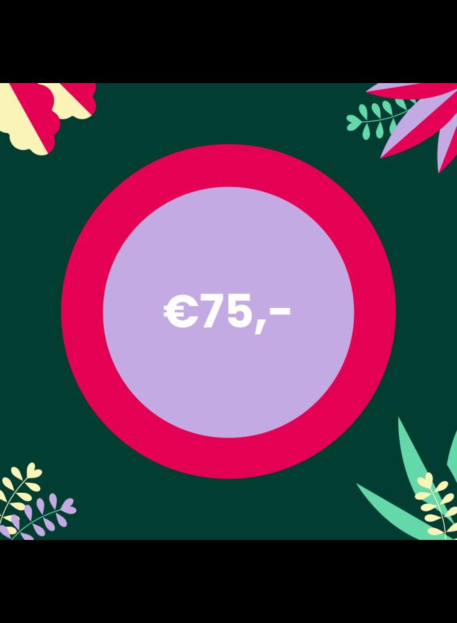 Digitale Cadeaubon - 75 euro
