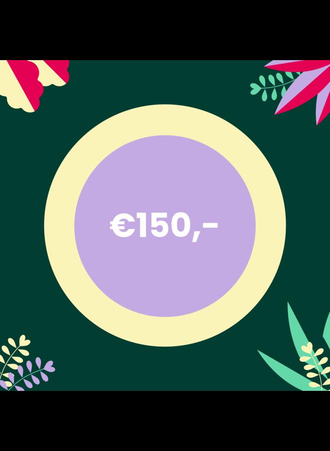 Digitale Cadeaubon - 150 euro