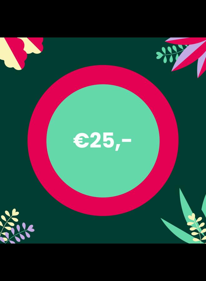 Digitale Cadeaubon - 25 euro