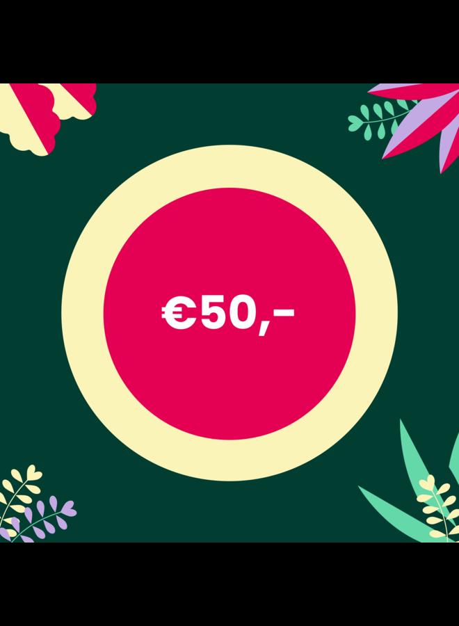 Digitale Cadeaubon - 50 euro