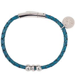 Armband Liz - Leer - Denim