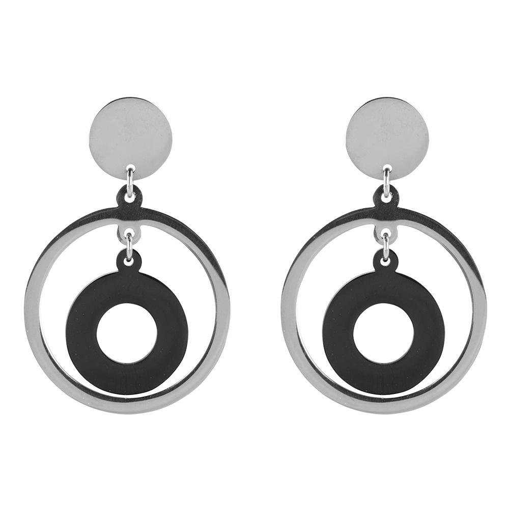 Oorbellen - Stainless steel Zilver-1