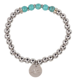 Zoevy Bracelet - Stainless Steel Turquoise