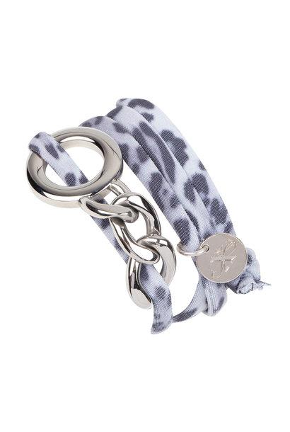 Armband Elsie - Leopard Black/White