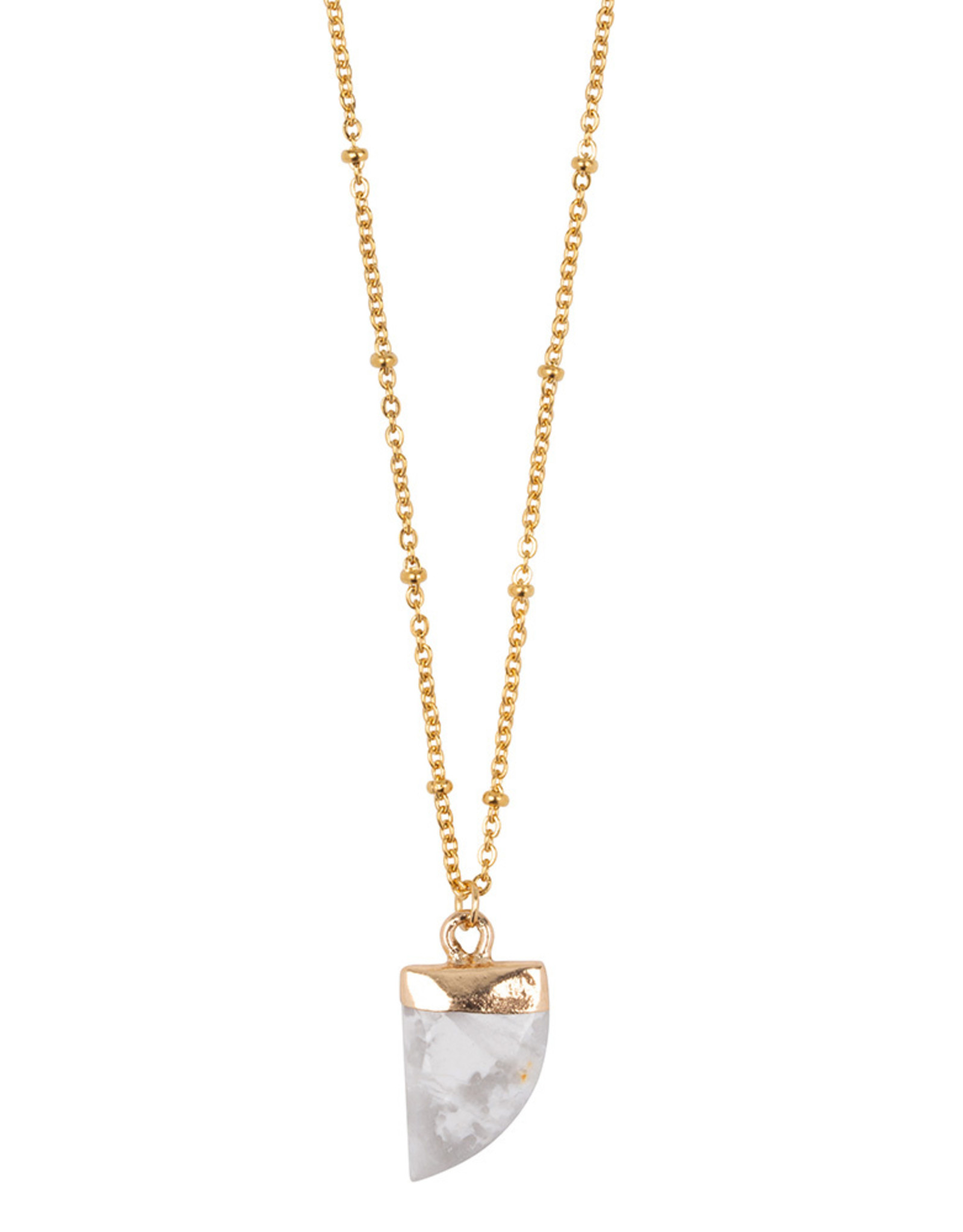 Ketting Little Tooth - Marble white