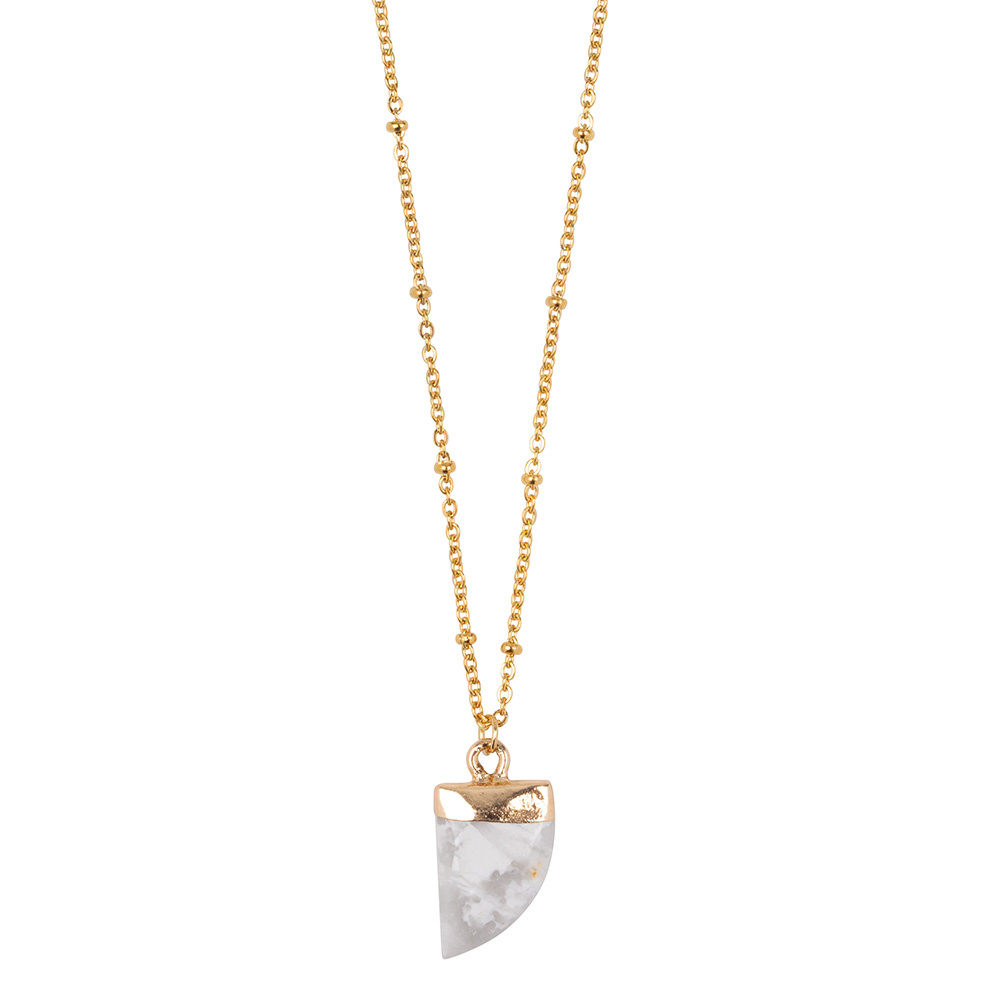 Ketting Little Tooth - Marble white-1