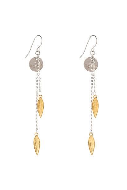 Oorbellen Feathers -zilver/goud