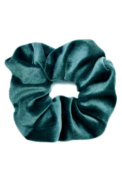 Scrunchie velvet Petrol Green