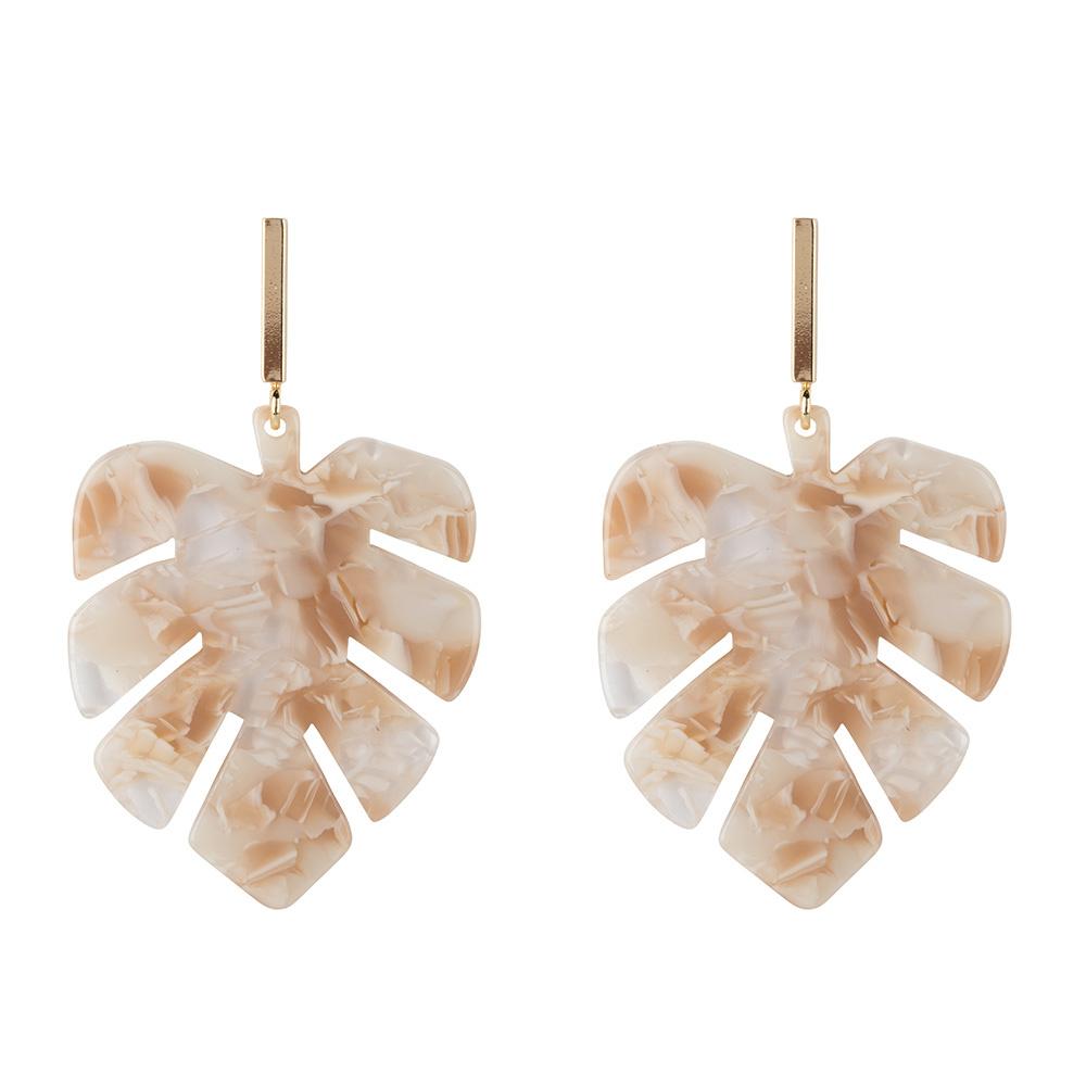 Leaf oorbellen - nude-1