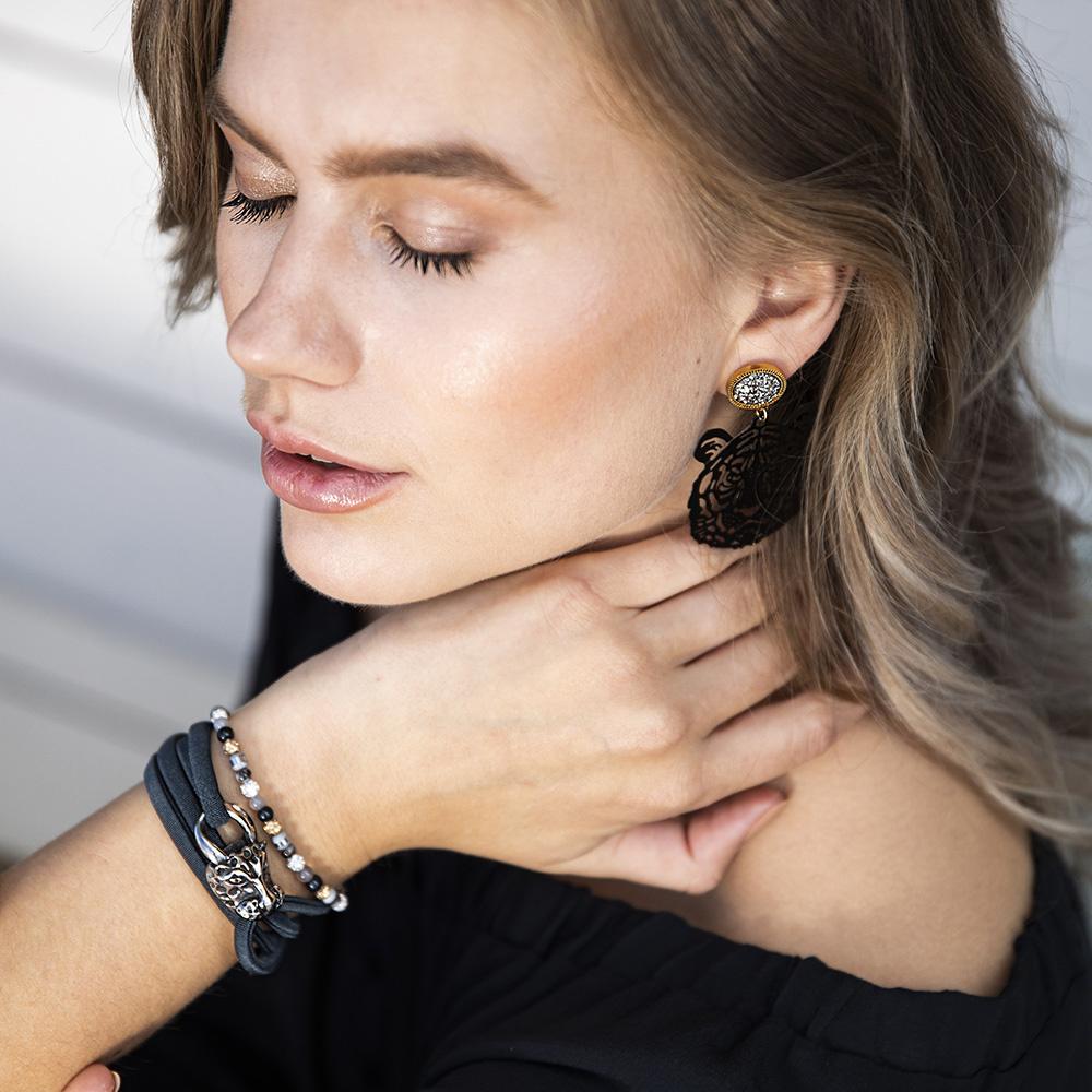 Armband Elsie - Antraciet-2