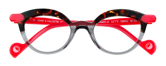 Anne et Valentin Let's Swing TORTOISE/GREY/RED