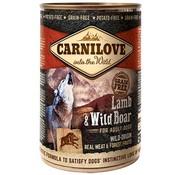 Carnilove in to the wild Carnilove blik Lam/Wild Zwijn 400 gram