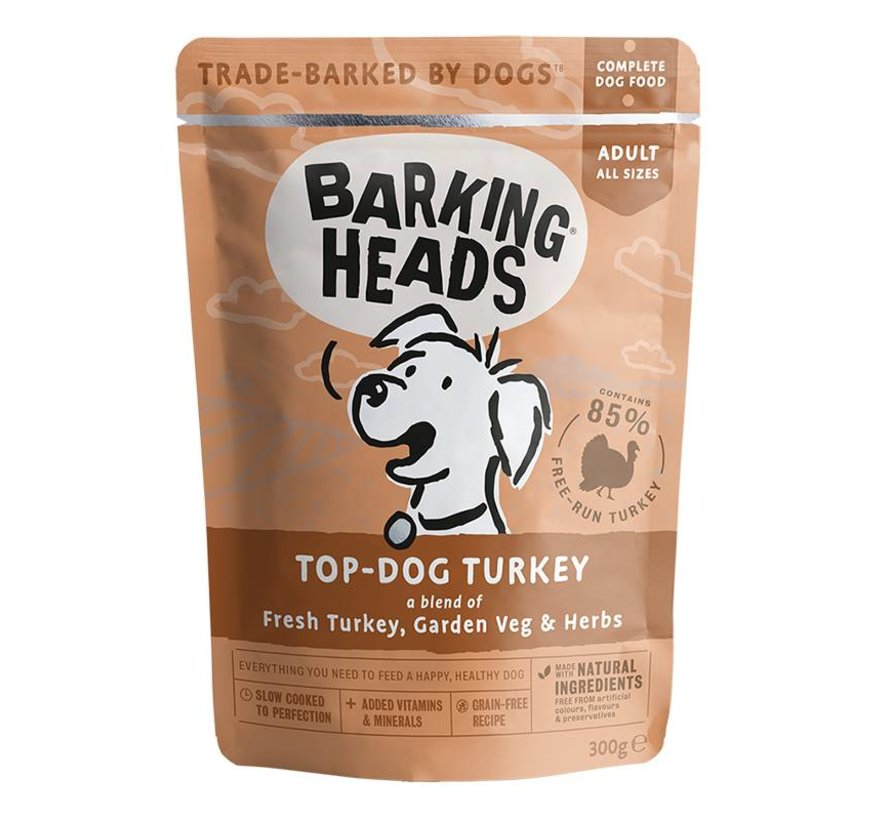 Barking Heads Wet Top Dog Turkey 300 gram