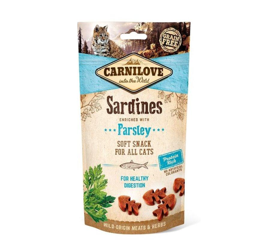 Carnilove Soft Snack Sardine CAT 50 gram