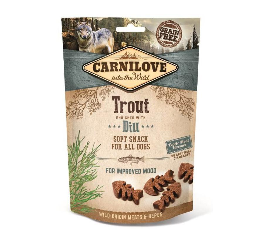 Carnilove Soft Snack Forel 200 gram