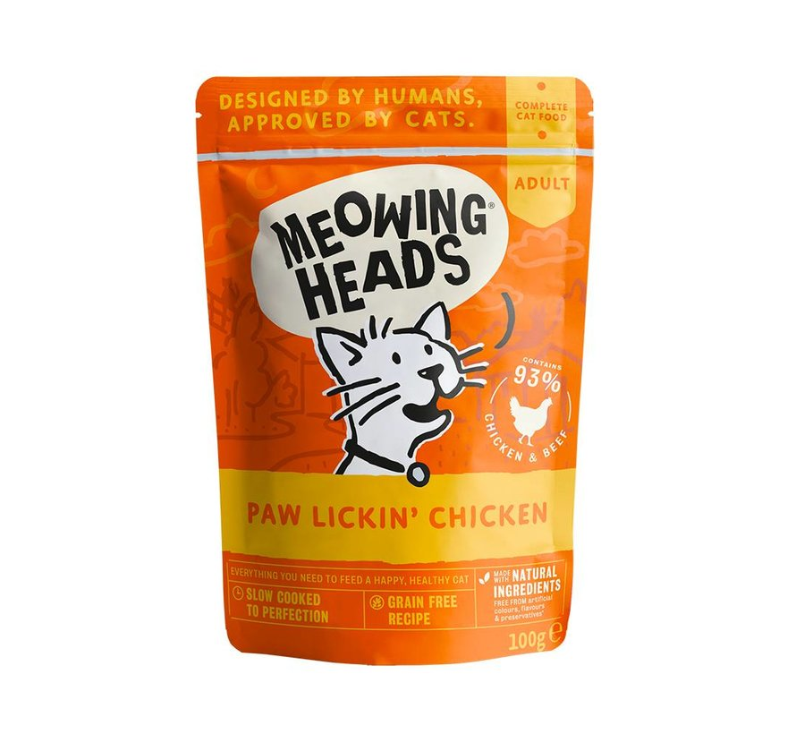 Meowing Heads Wet Chicken 100 gram